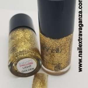 Latin Nails Glitter Light Golden 15ml