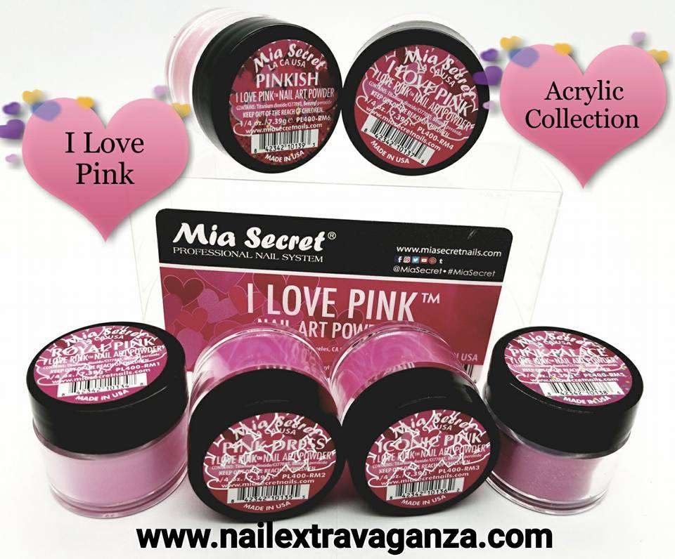 (1) Mia Secret I love Pink collection 6 jars