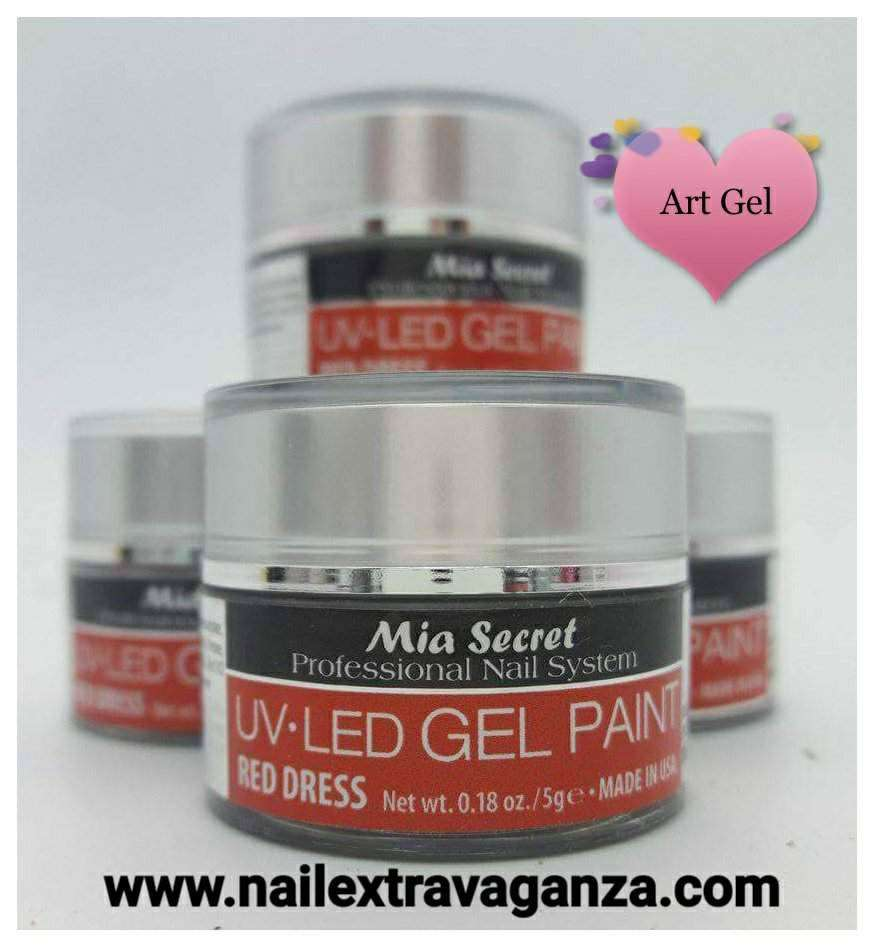 . Painting Gel 5grms Color Red Dress