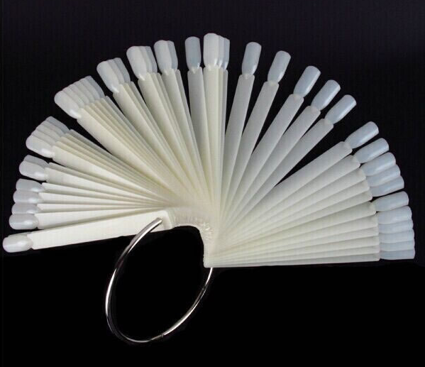 Fan Wheel Nail Display Sticks (Natural or Clear Color)