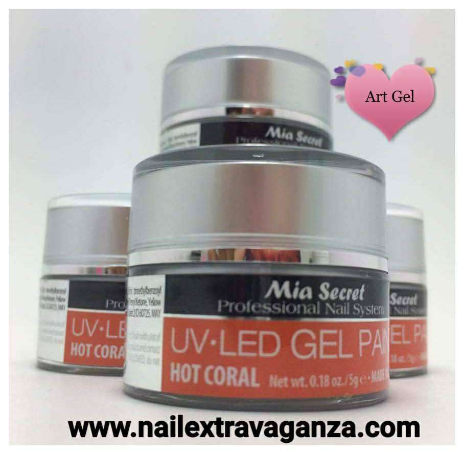 . Painting Gel 5grms Color Hot Coral