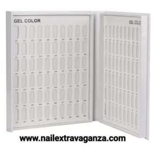 Gel/Nail Polish Color Card 96 Colors Display Chart Nail Gel Polish
