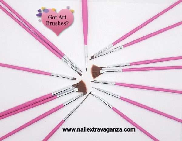 Artistic Brush Set 15pcs (Acrylic Paint) Mano Alzada