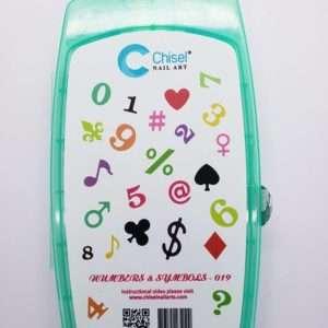 Chisel Nail Art: Numbers & Symbols - 019