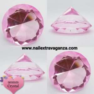 Diamond Display Crystal 3in (80mm) Pink Color
