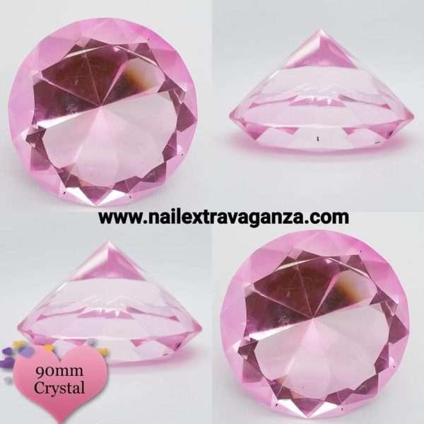 Diamond Display Crystal 3in (80mm) Pink Color