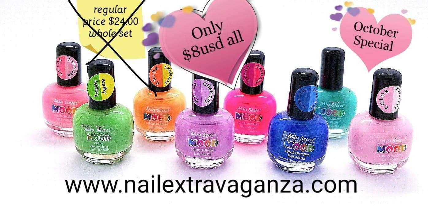 Mia Secret Mood Change Nail Polish (8 bottles 15ml) October Special