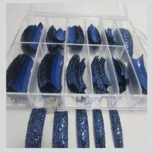 SALON (COLOR BLUE WITH GLITTER) 100 pcs