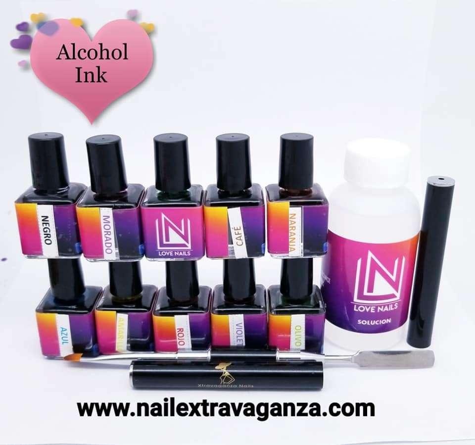 Ink Art Kit (10 colors 15ml, 1 Solution 2oz) Free Combo Brush