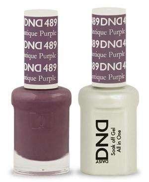 DND - Gel & Lacquer - Antique Purple - #489