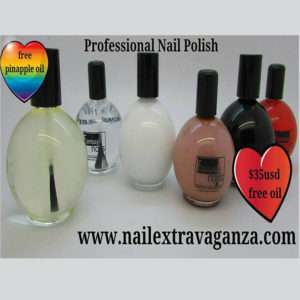 5 Nail Polish + 1 Free Cuticle Oil (120ml capacity bottles)