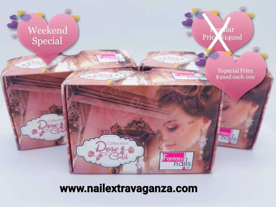 . Fantasy acrylic collection Rosegold 6jars 7grms