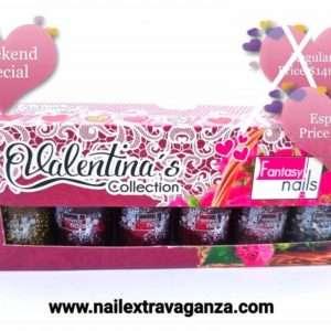 . Fantasy Nail Polish Valentina's set 6colors 15ml each