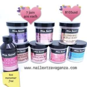 Mia Secret Acrylic 4oz Jars 7